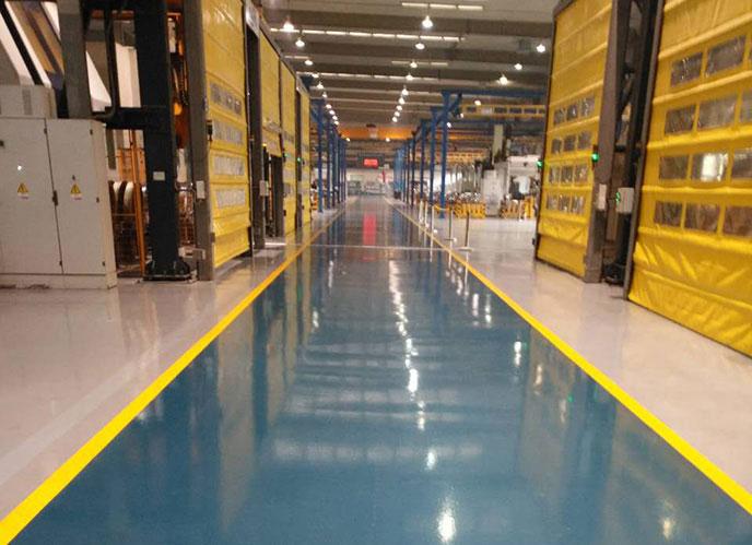 耐磨无溶剂环氧地坪1.2万平-智波交通运输公司无溶剂环氧平涂项目