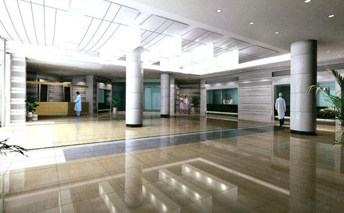 医院大厅地面磨损严重失去光泽怎么办?