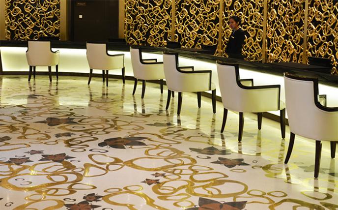 商务会所和星级酒店大厅地面材料选材指南-航特地坪漆