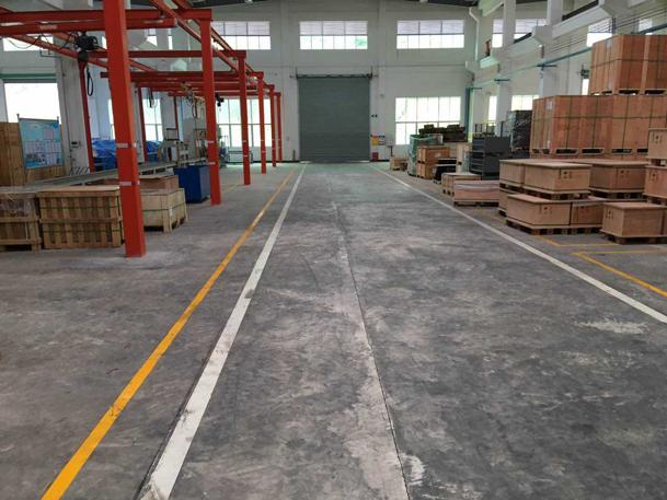 工厂车间旧水泥地面翻新改造保养效果图