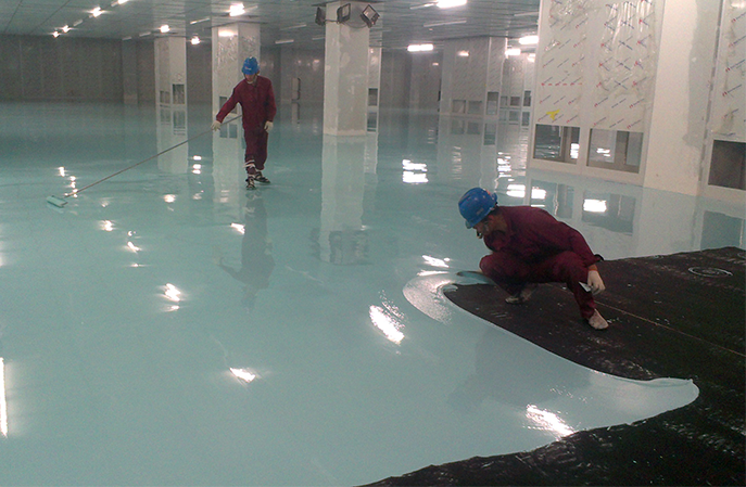 大型电子厂环氧防静电地坪工程施工工序