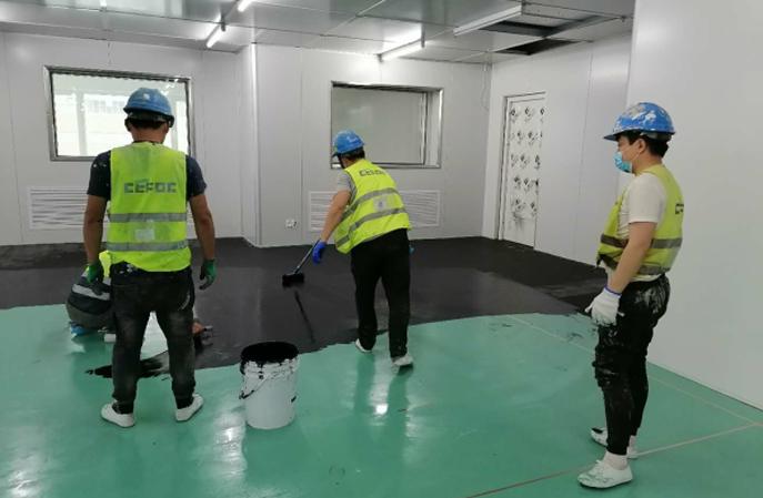 谁知道熊猫电子厂的环氧防静电地坪一般做多厚?