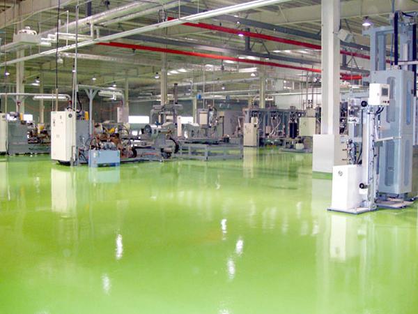 聚氨酯超耐磨地坪在工业厂房车间的应用,航特地坪