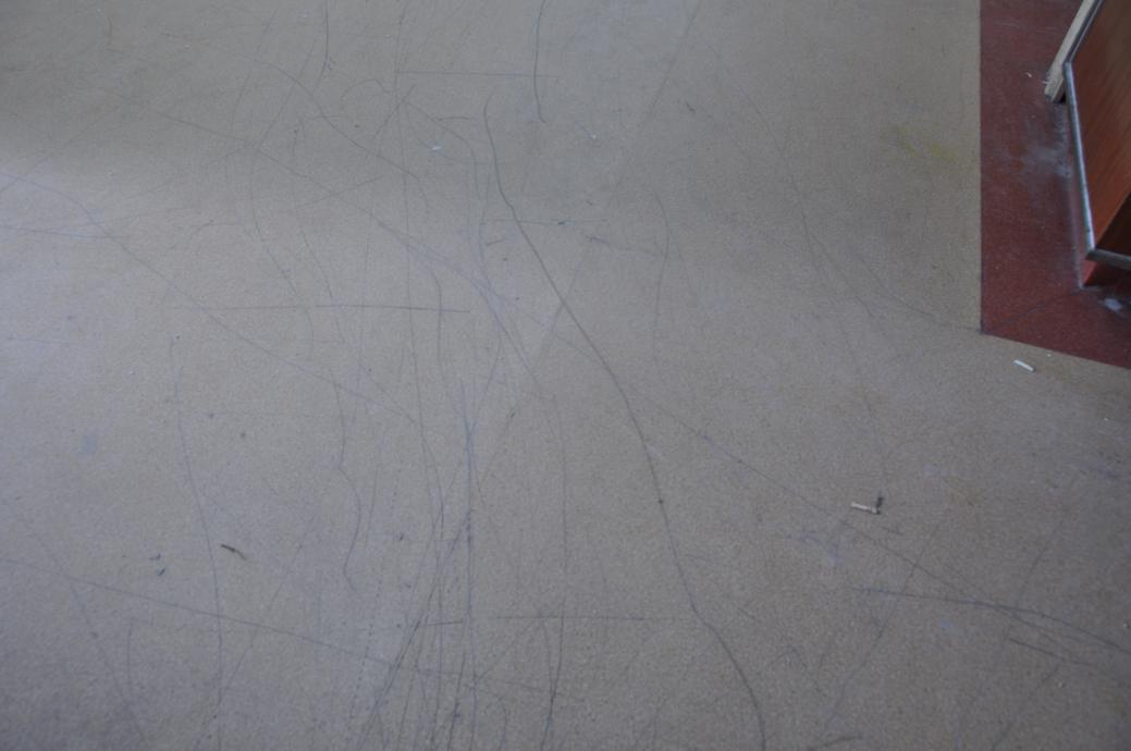 PVC地板划伤了处理过程如此简单?航特地坪