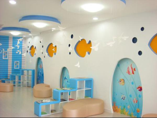 省心的幼儿园墙面翻新,一举多得!航特墙面漆厂家