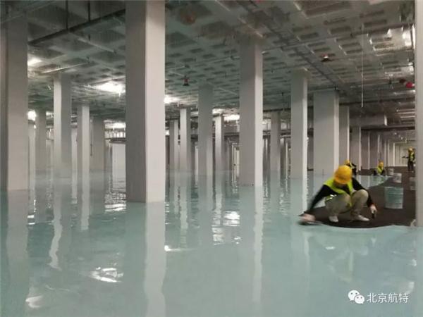 京东方电子厂房防静电地坪漆与施工首选航特地坪漆厂家-北京航特
