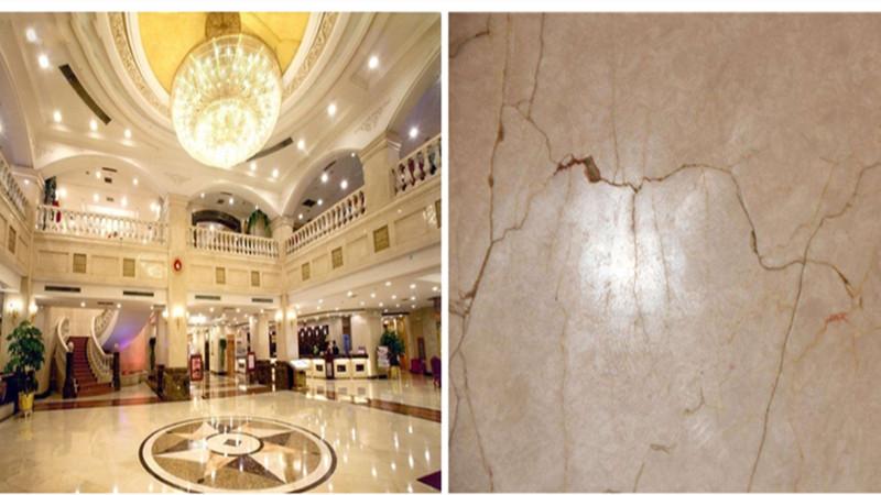 环氧磨石地坪装修让酒店大堂地面充满诗情画意-航特地坪漆