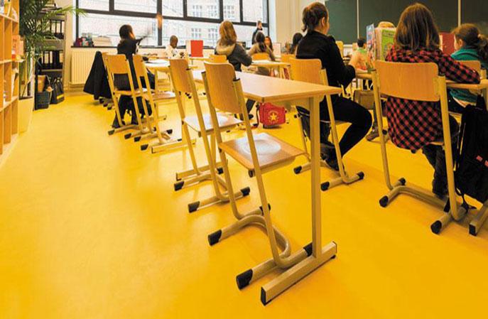 学校地面墙面PVC地板养护翻新解决方法