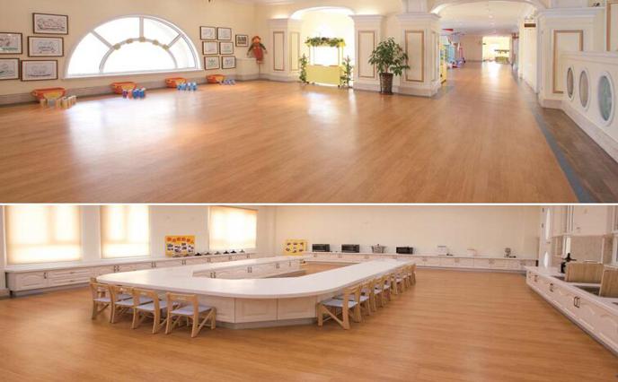 旧舞蹈地板使用塑立得翻新,比重铺更好用!